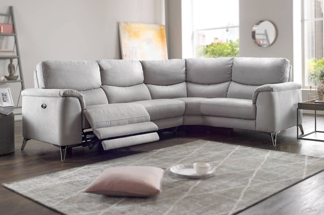 Corner sofas in leather fabric sofology saved parisarafo Choice Image